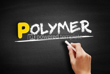 Business: Polymer text on blackboard #00858