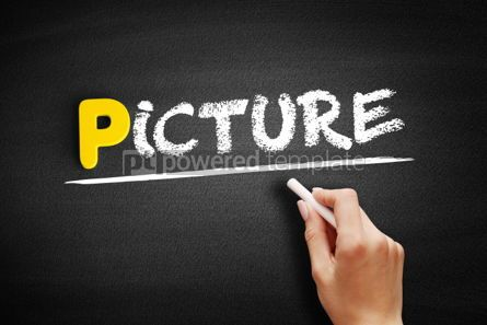 Business: PICTURE text on blackboard #00859