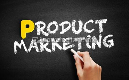 Business: Product Marketing text on blackboard #00860