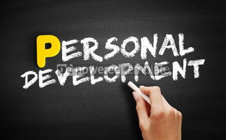Business: Personal development text on blackboard #00861