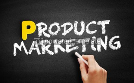 Business: Product Marketing text on blackboard #00862