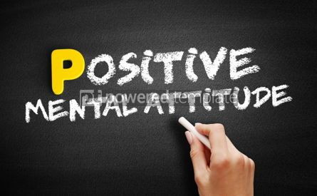 Business: Positive Mental Attitude text on blackboard #00863