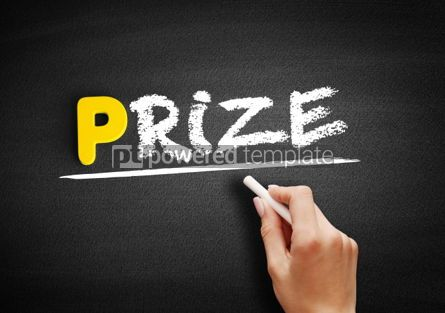 Business: Prize text on blackboard #00865