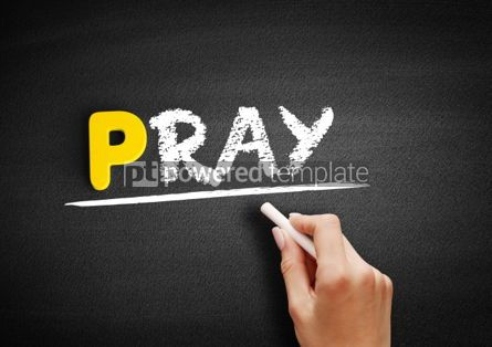 Business: PRAY text on blackboard #00866