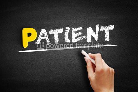 Business: Patient text on blackboard #00869