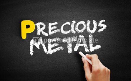 Business: Precious metal text on blackboard #00875