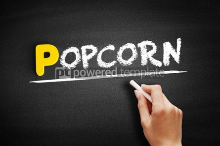 Business: Popcorn text on blackboard #00876