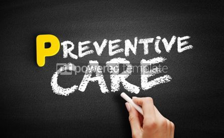 Business: Preventive care text on blackboard #00877