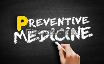 Business: Preventive medicine text on blackboard #00878