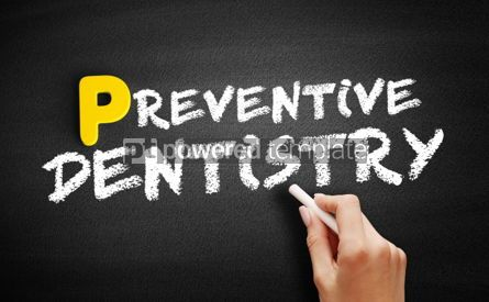 Business: Preventive dentistry text on blackboard #00879