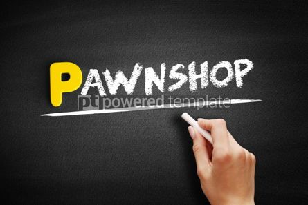 Business: Pawnshop text on blackboard #00883
