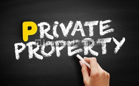 Business: Private property text on blackboard #00885