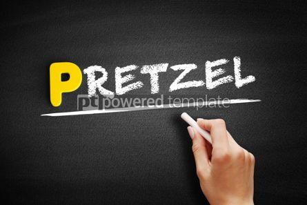 Business: Pretzel text on blackboard #00887