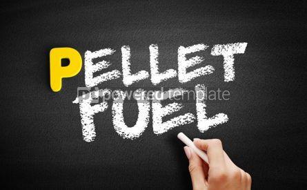 Business: Pellet fuel text on blackboard #00896