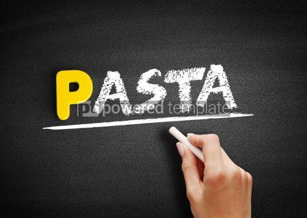 Business: Pasta text on blackboard #00897