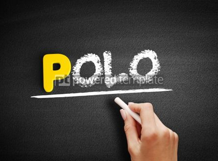 Business: Polo text on blackboard #00901