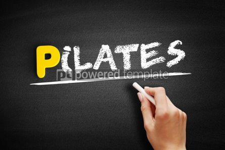 Business: Pilates text on blackboard #00902
