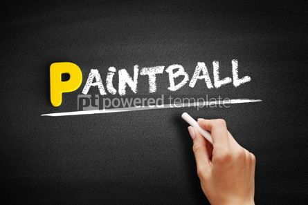 Business: Paintball text on blackboard #00904