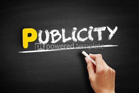 Business: Publicity text on blackboard #00907