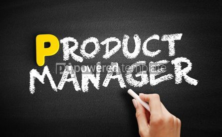 Business: Product manager text on blackboard #00910
