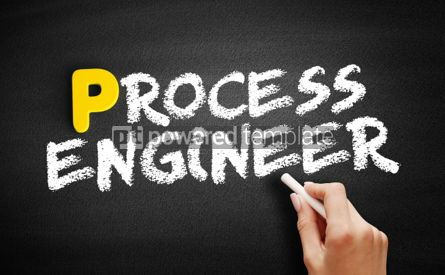 Business: Process engineer text on blackboard #00911