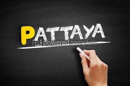 Business: Pattaya text on blackboard #00912