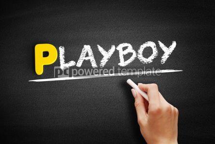 Business: Playboy text on blackboard #00913