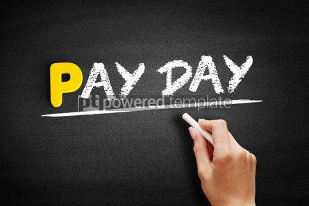 Business: Pay Day text on blackboard #00915