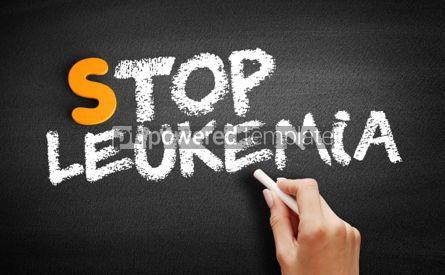 Business: Stop Leukemia text on blackboard #00918