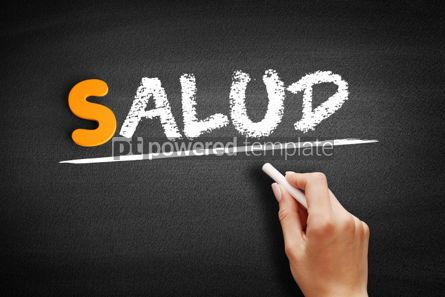 Business: Salud Health in Spanish text on blackboard #00920
