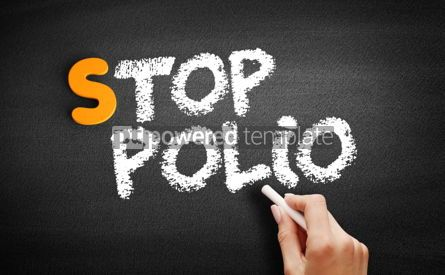 Business: Stop Polio text on blackboard #00921