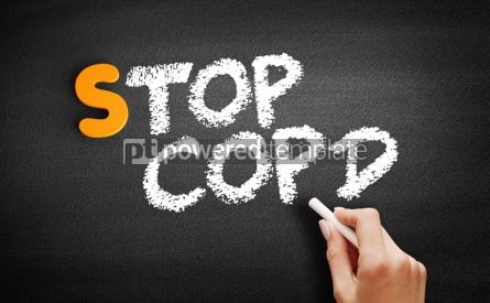 Business: Stop COPD text on blackboard #00922