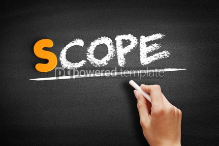 Business: Scope text on blackboard #00924
