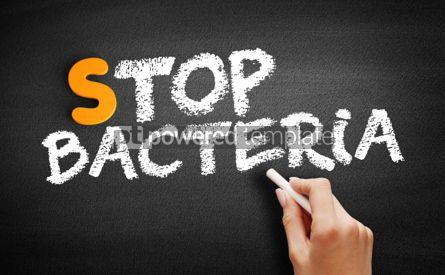 Business: Stop Bacteria text on blackboard #00927