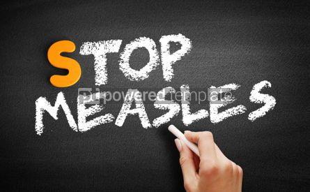 Business: Stop Measles text on blackboard #00929