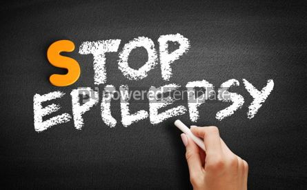 Business: Stop Epilepsy text on blackboard #00931