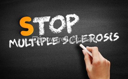 Business: Stop Multiple Sclerosis text on blackboard #00936