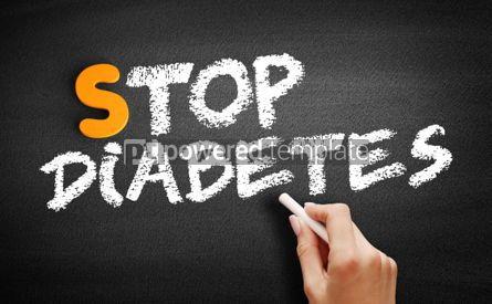 Business: Stop Diabetes text on blackboard #00937