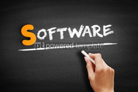 Business: Software text on blackboard #00939