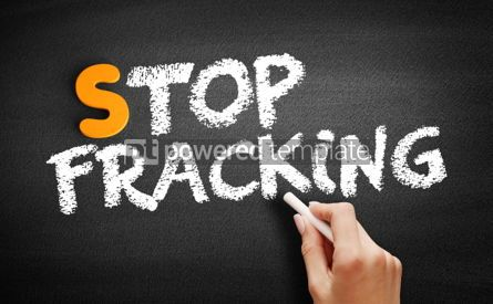 Business: Stop Fracking text on blackboard #00940