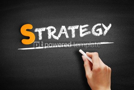 Business: Strategy text on blackboard #00941