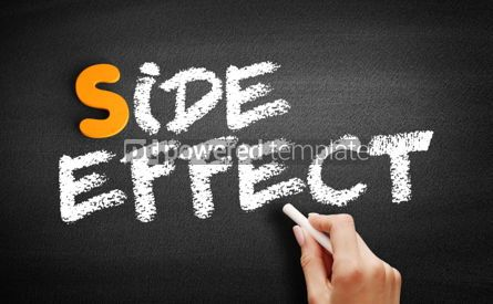 Business: Side Effect text on blackboard #00942