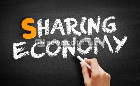 Business: Sharing Economy text on blackboard #00943