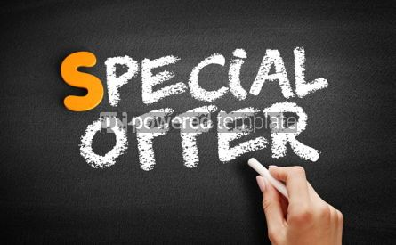 Business: Special Offer text on blackboard #00945