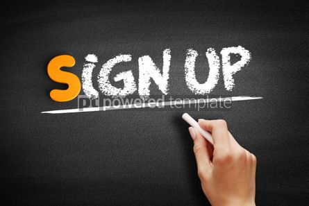 Business: Sign Up text on blackboard #00948