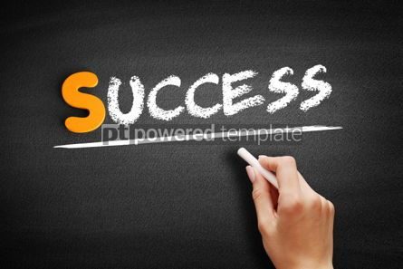 Business: Success text on blackboard #00952