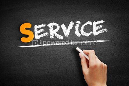 Business: Service text on blackboard #00953