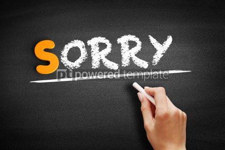 Business: Sorry text on blackboard #00955