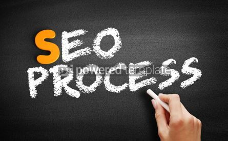 Business: SEO process text on blackboard #00958