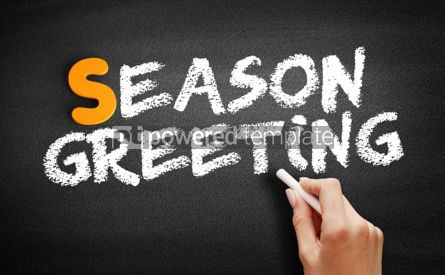 Business: Season greeting text on blackboard #00959